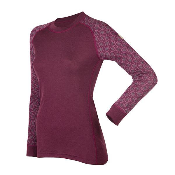 Janus Design Wool Dame ulltrøye u/zipp (lilla)