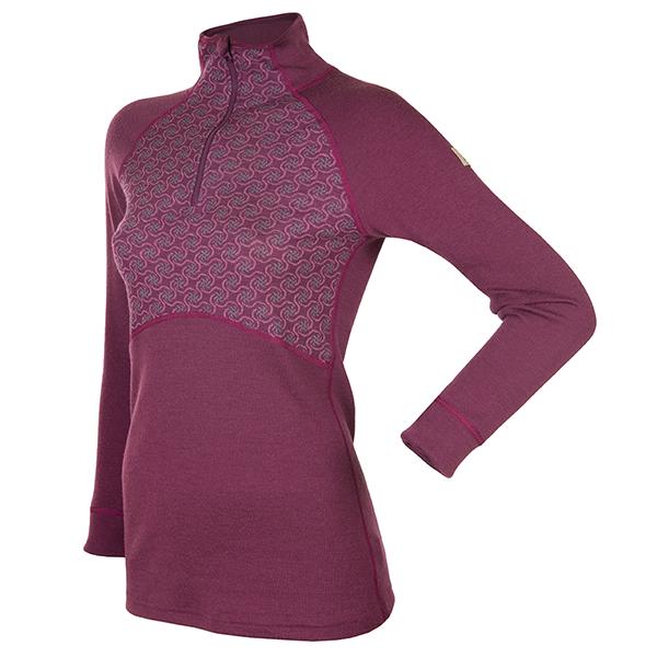 Janus Design Wool Dame ulltrøye m/zipp (lilla)