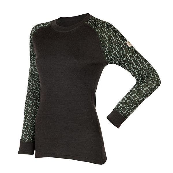 Janus Design Wool Dame ulltrøye u/zipp (mørk grønn)