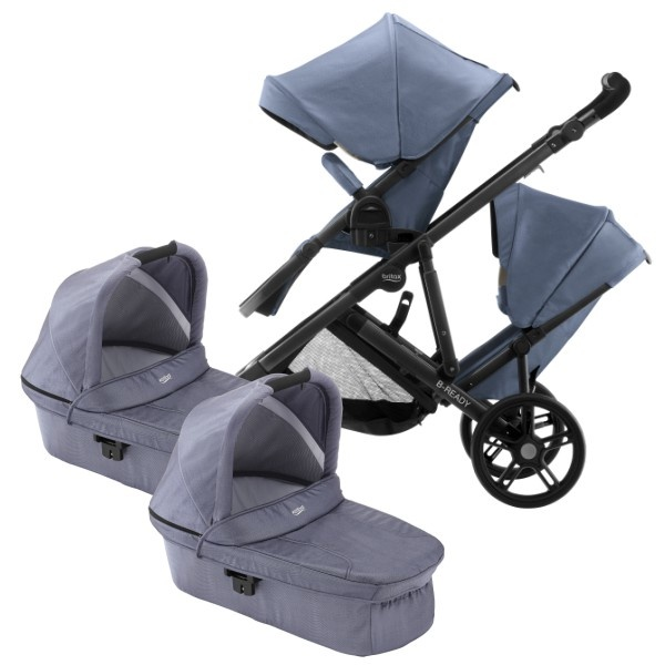 Britax B-Ready Tvilling - Blue Denim