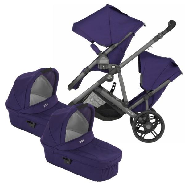 Britax B-Ready Tvilling - Mineral Purple