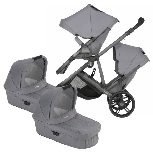 Britax B-Ready Tvilling - Steel Grey