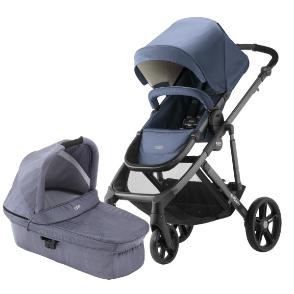 Britax B-Ready Søskenvogn - Blue Denim