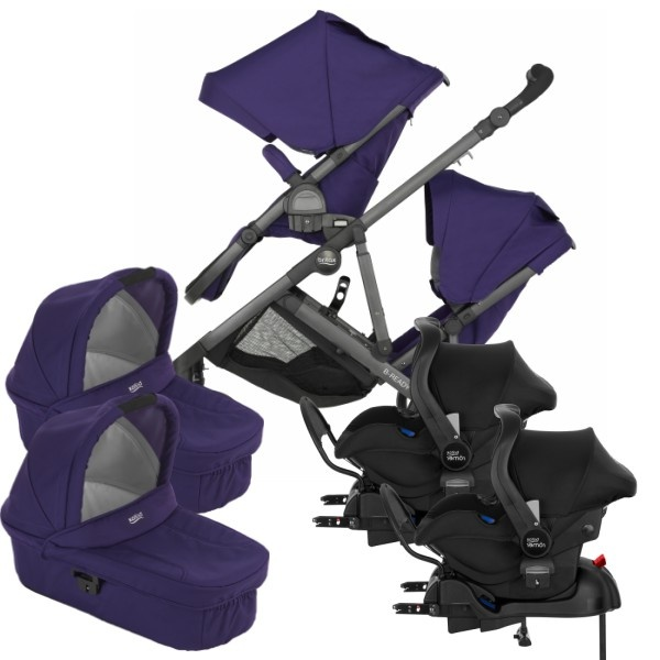 Britax B-Ready Tvilling 3i1 inkl Base - Mineral Purple