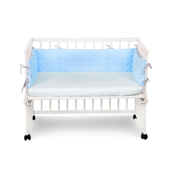 Klups Bedside Crib Sengekant - Light Blue
