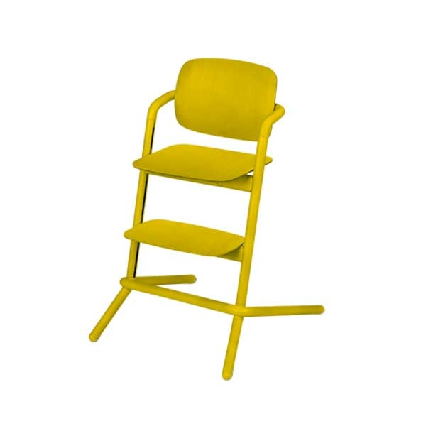 Cybex LEMO chair WOOD (høystol) Canary Yellow