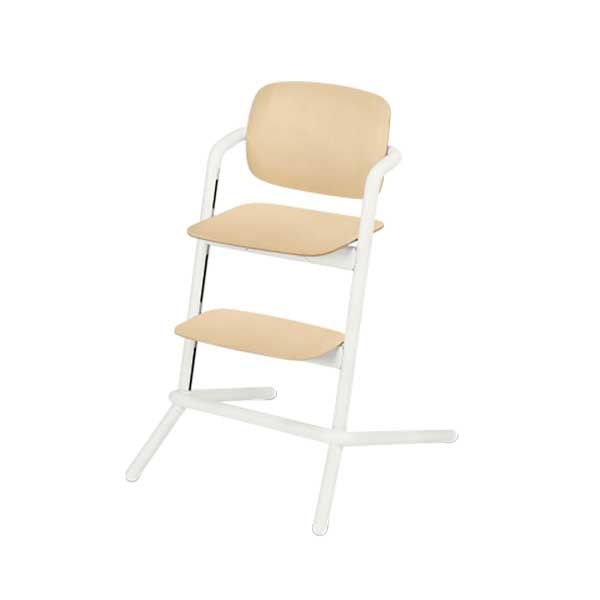 Cybex LEMO chair WOOD (høystol) Porcelaine White
