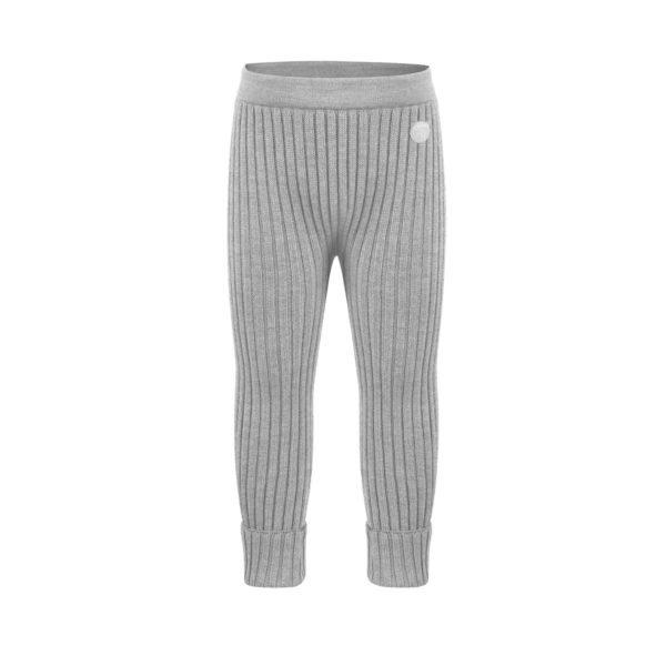 Lillelam Bukse basic ribb - grå str 98