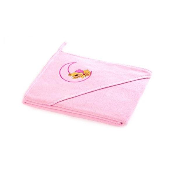 Sensillo Hettehåndkle - Pink Bjørn