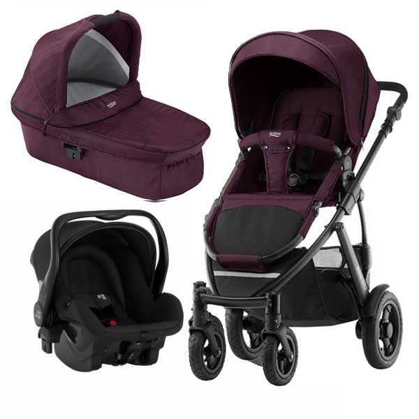 Britax Smile 2 3i1 - Wine Red Denim