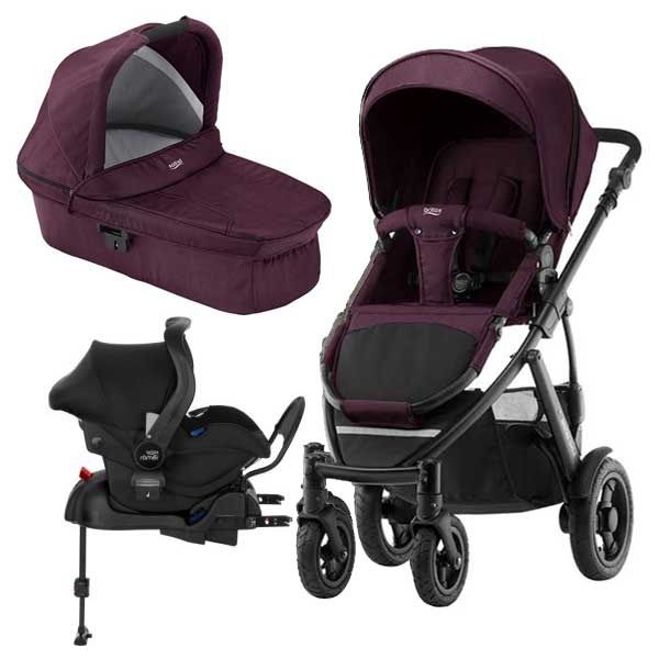 Britax Smile 2 3i1 inkl Base - Wine Red Denim