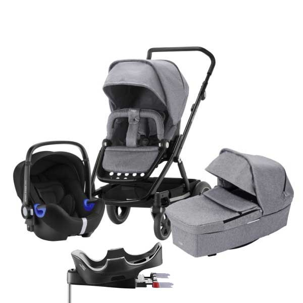 Britax Go Next² 3i1 inkl Base - Grey Melange/Black