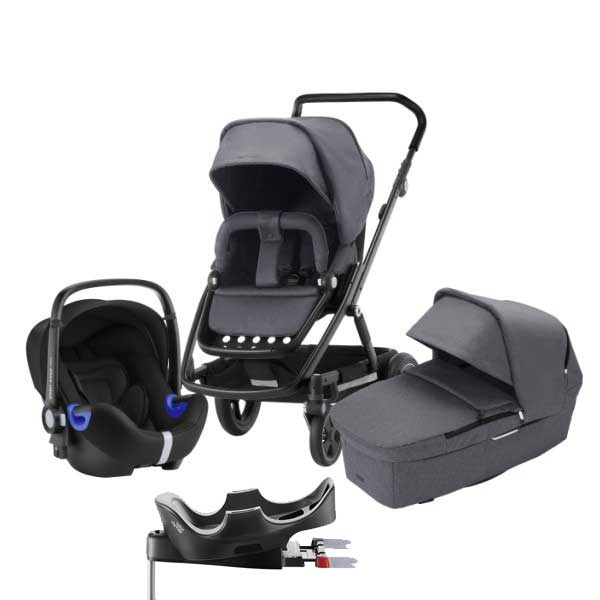Britax Go Next² 3i1inkl Base - Graphite Melange/Black