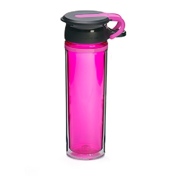 WOW Sportsflaske 600 ml - Rosa/Sort