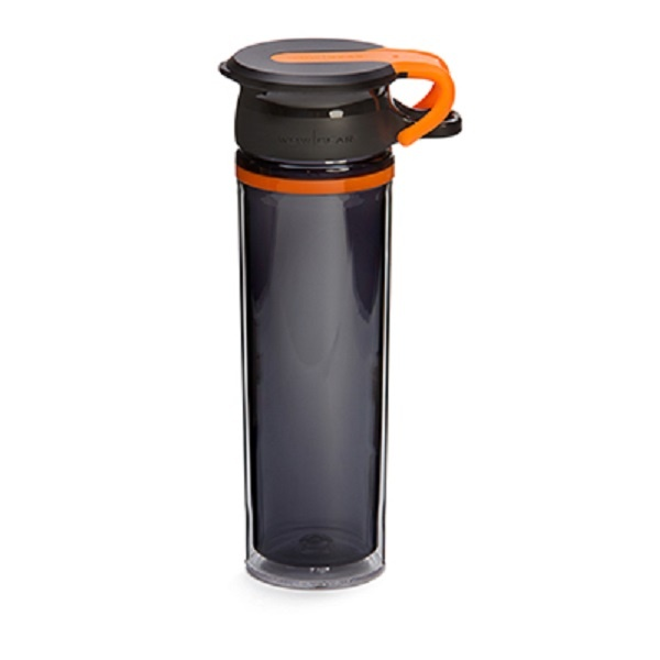 WOW Sportsflaske 600 ml - Sort / Orange