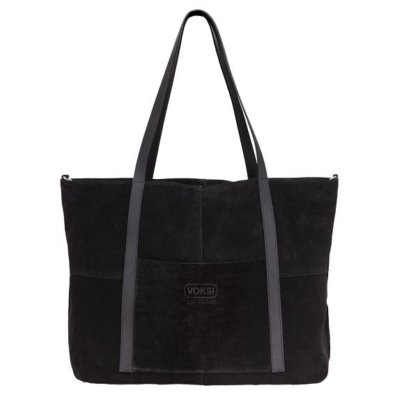 Voksi® Ida Ising Citybag - Black Suede