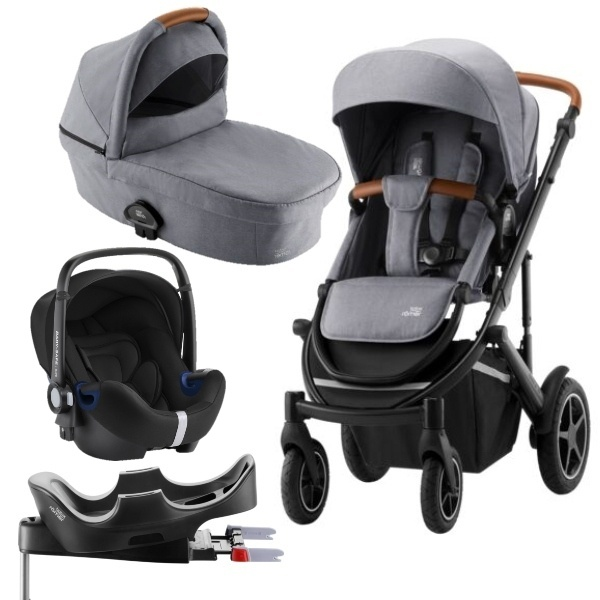 Britax Smile III Travelsystem Barnevogn - Frost Grey/Brown