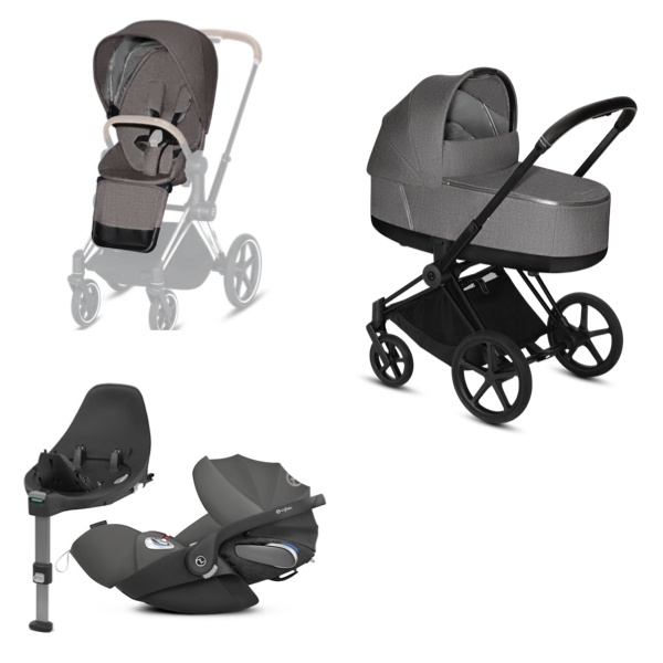 Cybex PRIAM Travelsystem - Matt Black/Manhattan Grey