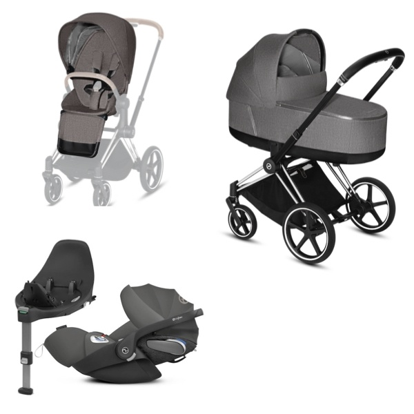 Cybex PRIAM Travelsystem - Chrome Black/Manhattan Grey