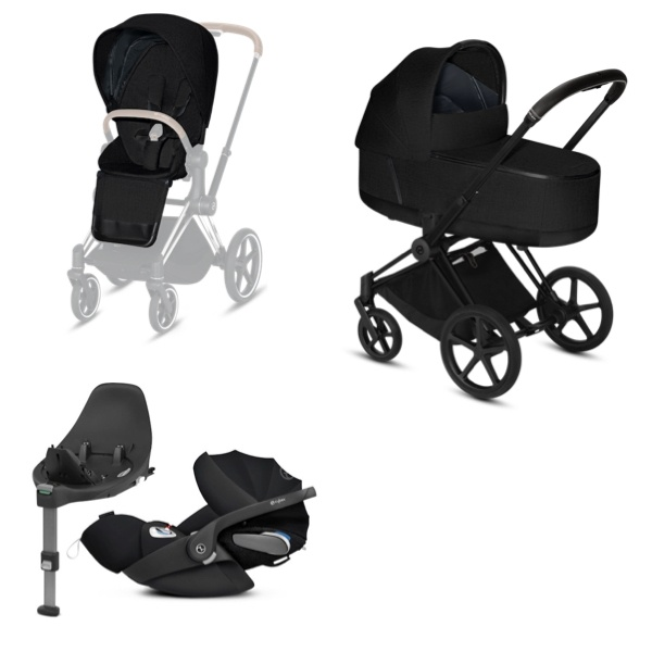 Cybex PRIAM Travelsystem - Matt Black/Stardust Black