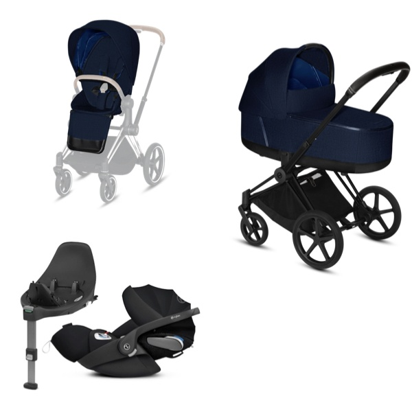 Cybex PRIAM Travelsystem - Matt Black/Midnight Blue