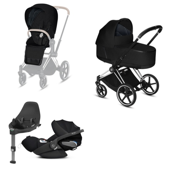Cybex PRIAM Travelsystem -  Chrome Black/Stardust Black