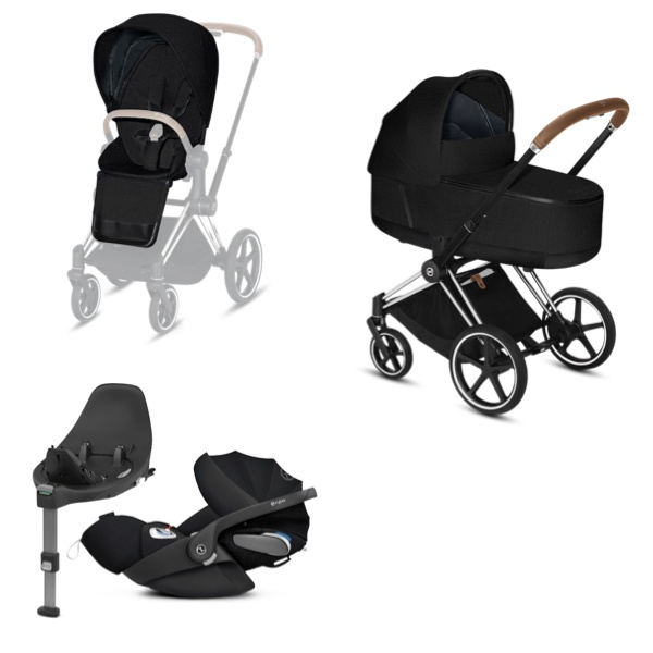 Cybex PRIAM Travelsystem - Chrome Brown/Stardust Black