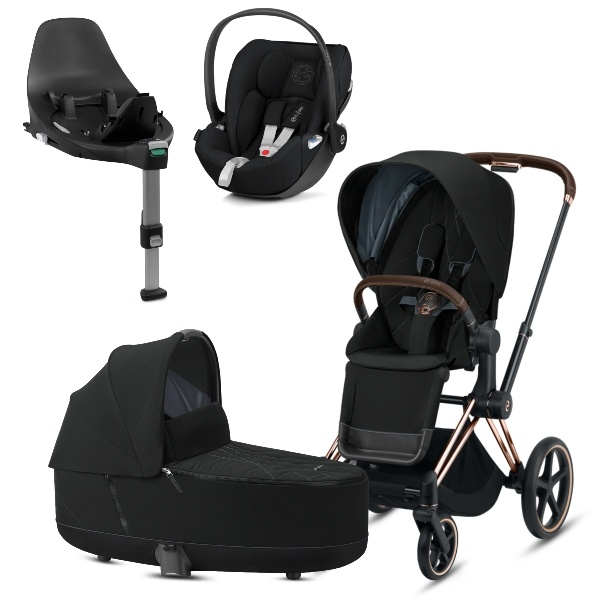 Cybex PRIAM Travelsystem - Rosegold/Deep Black