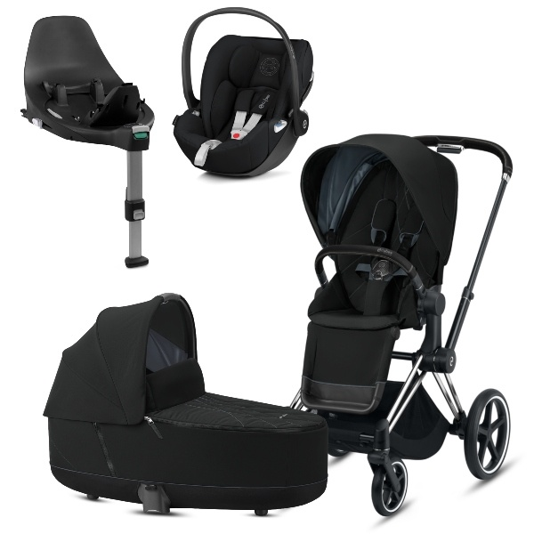 Cybex PRIAM Travelsystem - Chrome Black/Deep Black