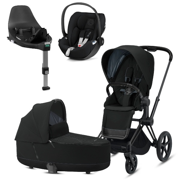 Cybex PRIAM Travelsystem - Matt Black/Deep Black