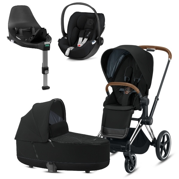 Cybex PRIAM Travelsystem - Chrome Brown/Deep Black