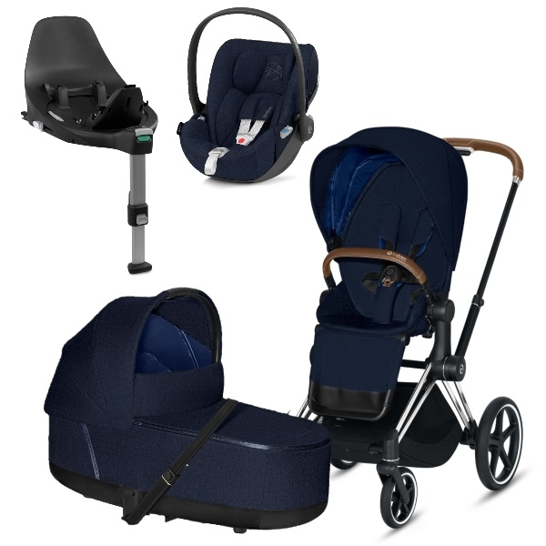 Cybex PRIAM Travelsystem  - Chrome Brown/Midnight Blue