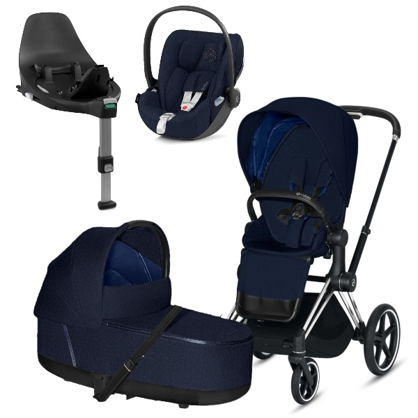 Cybex PRIAM Travelsystem - Chrome Black/Midnight Blue