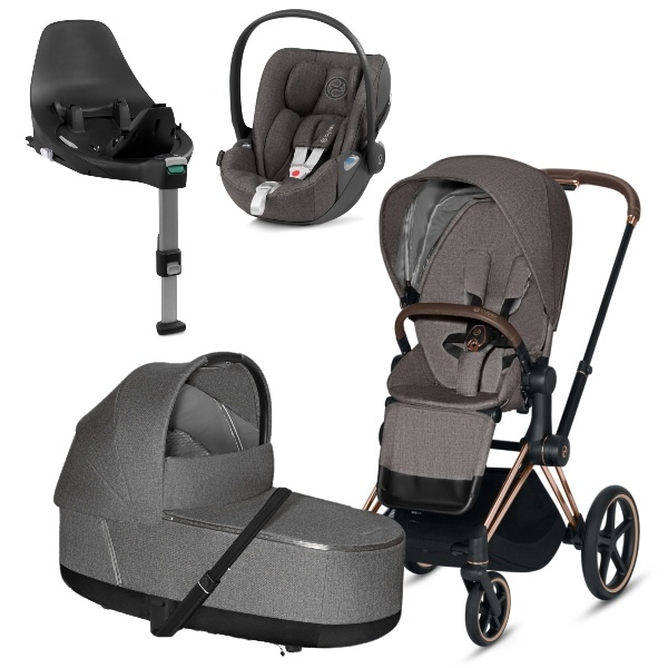 Cybex PRIAM Travelsystem - Rosegold/Manhattan Grey