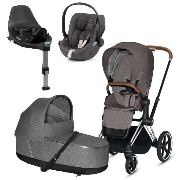 Cybex PRIAM Travelsystem - Chrome Brown/Manhattan Grey