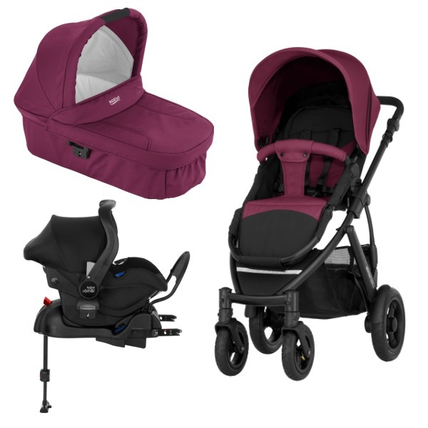 Britax Smile 2 3i1 inkl Base - Wine Red