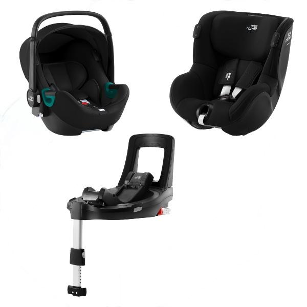 Britax Baby-Safe iSense & Dualfix iSense m/base - Space Black