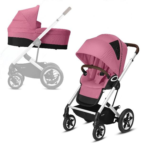Cybex Talos S Lux Duo - Silver/Magnolia Pink