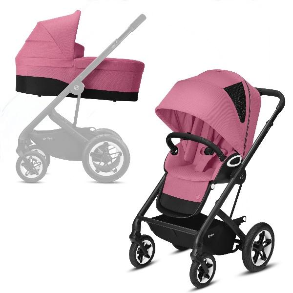 Cybex Talos S Lux Duo - Black/Magnolia Pink