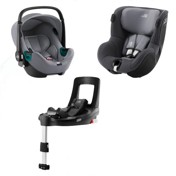 Britax Baby-Safe iSense & Dualfix iSense m/base - Frost Grey/Midnight Grey
