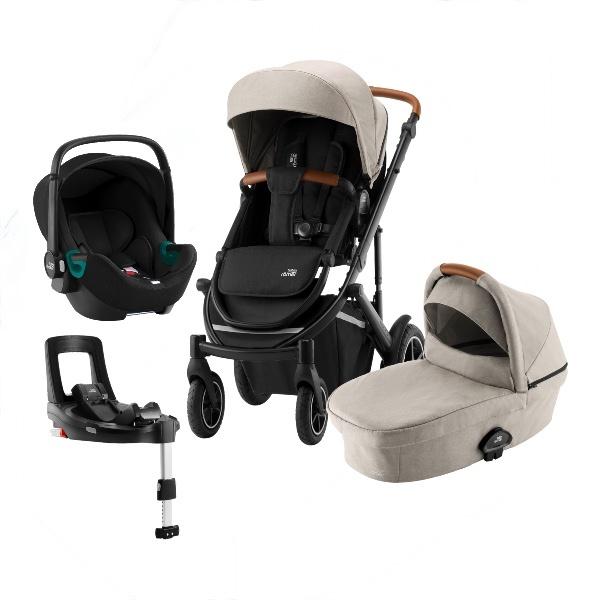 Britax Smile 3 Travelsystem, Duovogn m/Baby-Safe 3 i-Size +Base - Pure Beige
