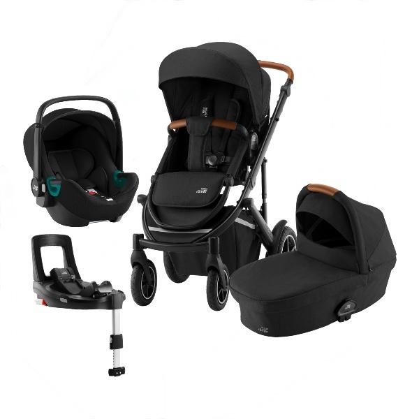 Britax Smile 3 Travelsystem, Duovogn m/Baby-Safe 3 i-Size +Base - Space Black