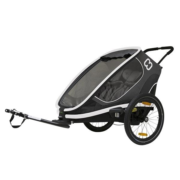 Hamax Outback m/2 plasser - Grey - joggehjul inkl. i pris (kr. 1299,-)