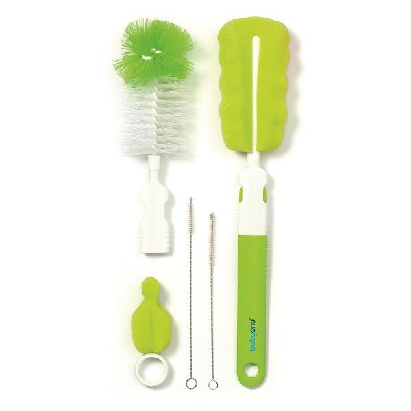 Flaske-/smokkbørste sett - grønn