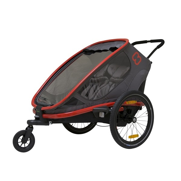 Hamax Outback 2i1 - Red/Charcoal - Plass til 2