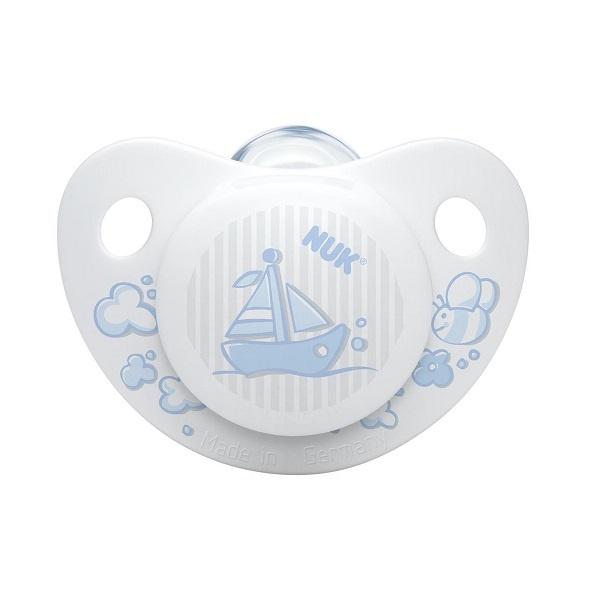 NUK Silikon Smokk Uten Ring - 6-18mnd, 2pk