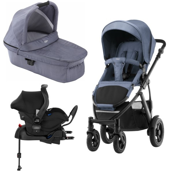Britax Smile 2 3i1 inkl Base - Blue Denim