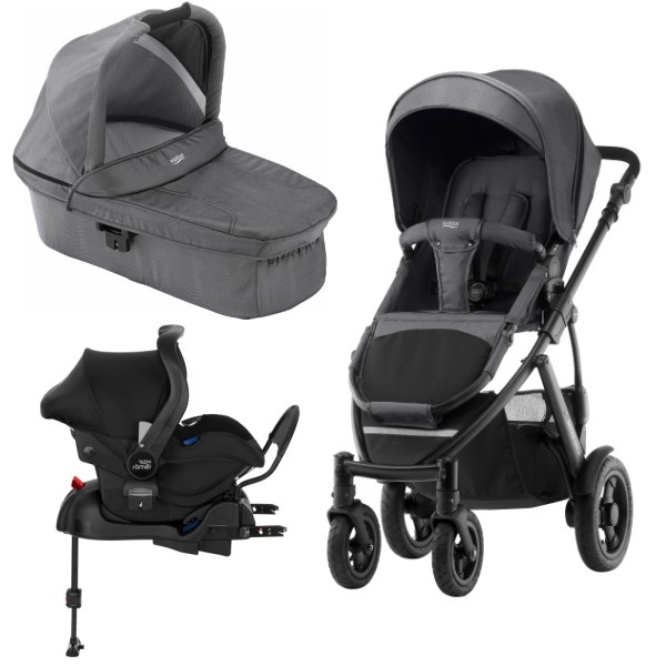 Britax Smile 2 3i1 inkl Base - Black Denim