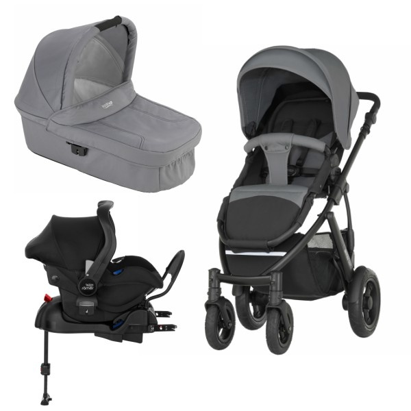 Britax Smile 2 3i1 inkl Base - Steel Grey