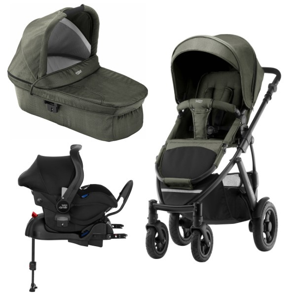 Britax Smile 2 3i1 inkl Base - Olive Denim